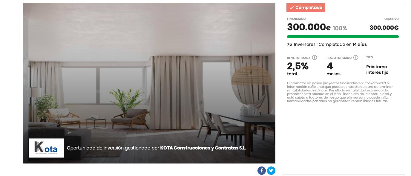 Campaña crowdfunding inmobiliario