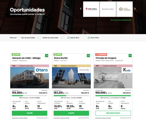 widgets oportunidades inversión