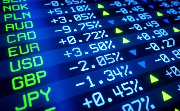 pantalla mercado de divisas