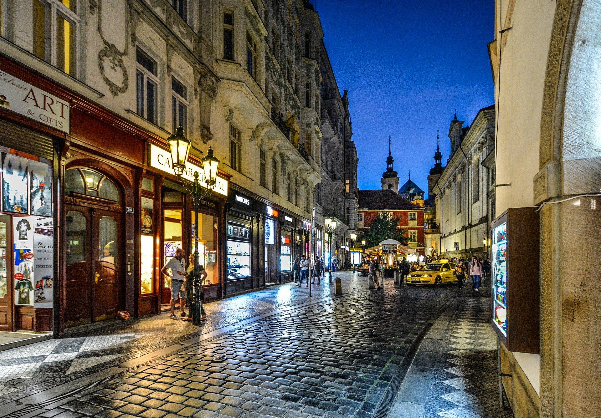 Calle casco viejo ciudad