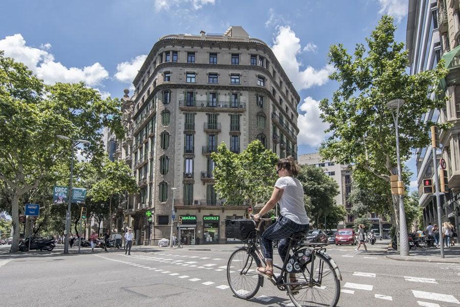 Cruce calles Barcelona