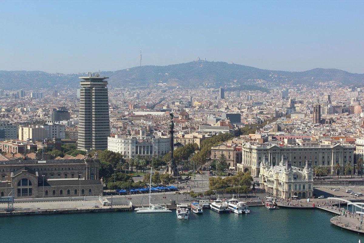 Vista cenital Barcelona